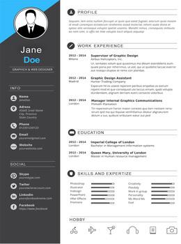 Premium Resume Template for MS Word - Dark Gray