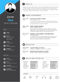 Premium Resume Template for MS Word - Dark Gray