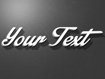 Premium Text Effect - 3 Dimensional #10 (Oldies)