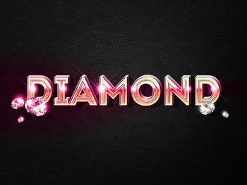 Premium Text Effect - 3 Dimensional #5 (Diamond)
