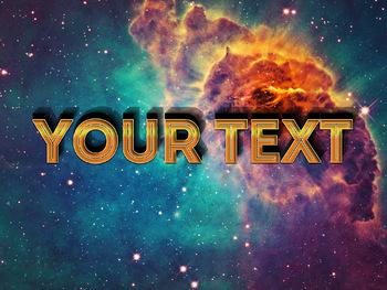 Premium Text Effect - 3 Dimensional #8 (Galactic)
