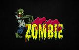 Premium Text Effect - Cartoon Halloween #1 (Zombie)