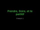Prendre, Comprendre, Apprendre, Boire and the Partitif Gui