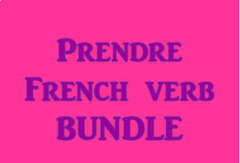 Prendre French Verb Bundle