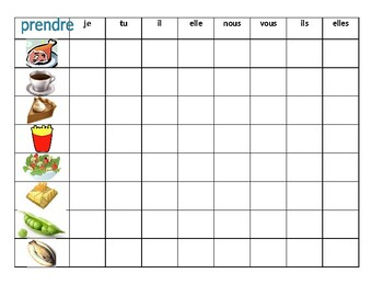 Nourriture (Food in French) Prendre Connect 4 game