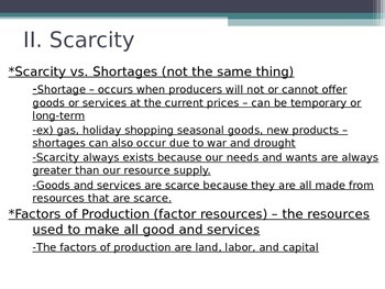Prentice Hall Economics Ch 1 Sec 1 Scarcity & Factors of Production