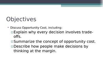 Prentice Hall Economics Ch 1 Sec 2 Opportunity Cost