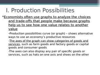 Prentice Hall Economics Ch 1 Sec 3 Production Possibilities Curves