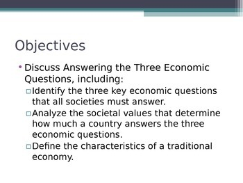 Prentice Hall Economics Ch 2 Sec 1 Answering the Three 3 E