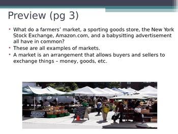 Prentice Hall Economics Ch 2 Sec 2 The Free Market