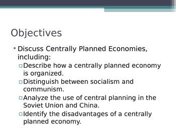 Prentice Hall Economics Ch 2 Sec 3 Centrally Planned Economies