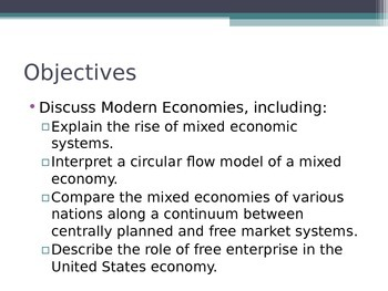 Prentice Hall Economics Ch 2 Sec 4 Modern Economies