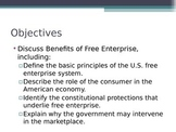 Prentice Hall Economics Ch 3 Sec 1 Benefits of Free Enterprise