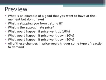 Prentice Hall Economics Ch 4 Sec 1 Understanding Demand