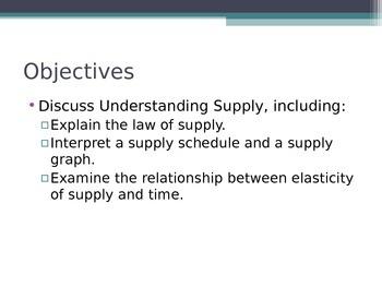 Prentice Hall Economics Ch 5 Sec 1 Understanding Supply