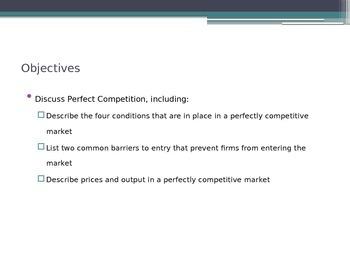 Prentice Hall Economics Ch 7 Sec 1 Perfect Competition