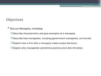 Prentice Hall Economics Ch 7 Sec 2 Monopoly