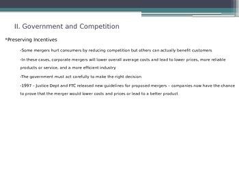 Prentice Hall Economics Ch 7 Sec 4 Regulation and Deregulation
