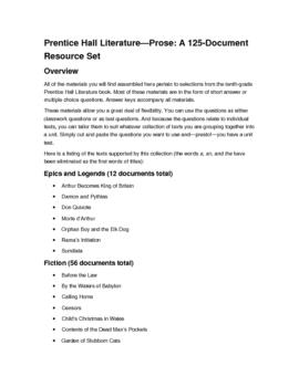 Prentice Hall Grade 10--Prose Resources