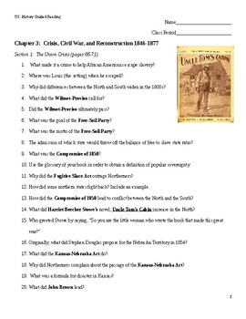 United States History Beginnings To 1877 Worksheets