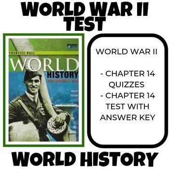 World War II test World History Prentice Hall