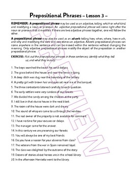 Preopositional, Verbal, & Appositive Phrases. 20 Grammar Lessons. Gr 7 - 8