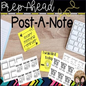 Prep-Ahead Post-A-Note