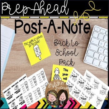 Prep-Ahead Post-Its Back to School Pack