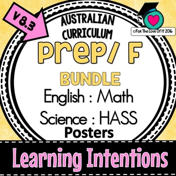 Prep/F- LEARNING INTENTIONS - English, Math, Science, HASS