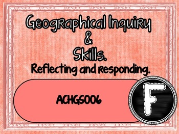 Prep / Found  Geography – Aus curric Learning Goals & Success Criteria Posters.