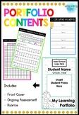 Prep/Foundation/1st Grade Portfolio - Editable!
