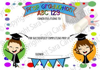 Prep/Foundation Graduation Certificates