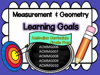 Prep/Foundation Maths Measurement & Geometry, Learning Goals/Success Criteria