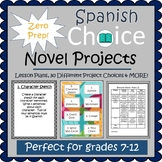 Spanish Novel Projects - Prep Free DISTANCE LEARNING