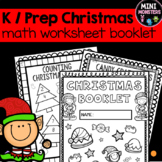 Prep Kindergarten Christmas Worksheet Booklet