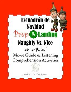 Prep & Landing/ Naughty Vs. Nice Movie Guide in Spanish