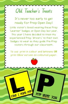 Prep Open Day Badges