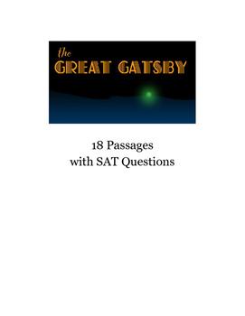 New SAT and PSAT (2016) Assessments Using The Great Gatsby