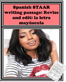 FREEBIE: Spanish STAAR writing passage: Revise and edit: la letra mayúscula