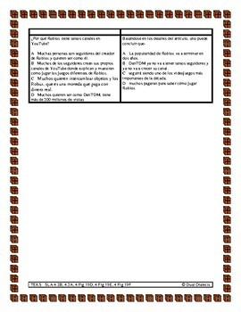 Preparación para el STAAR: texto informativo: Roblox