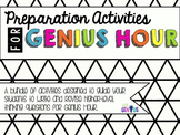 Preparation Activities for Genius Hour