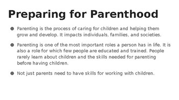 Preparation for Parenthood