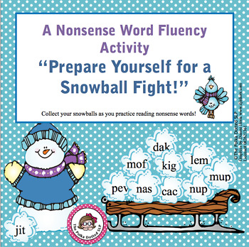 Winter Nonsense Word Practice Activity