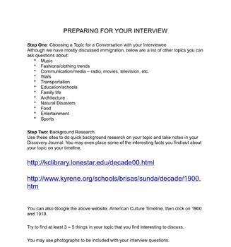 Prepare a Historical Interview