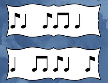 Rhythm Flash Cards: Ti Ta Ti (Syncopation / Syncopa) Prepare and Practice Cards