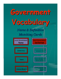 Government Vocabulary Matching Cards
