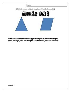 Prepared Three-Part Math Lessons: Geometry and Spatial Sense