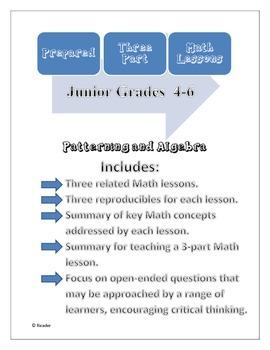 Prepared Three-Part Math Lessons: Patterning and Algebra