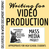 Preparing & Writing for a Video Broadcast (Journalism, Mass Media)