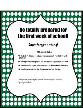 Preparing Your Classroom at the Beginning of the Year